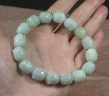 Certified 100% Natural A JADE Jadeite Bead Shakyamuni God Bangle Bracelet 397232