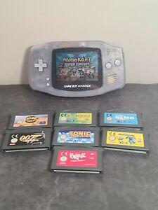Nintendo Game Boy Advance Glacier. With 8 games. Gba mario kart, sonic, crash.