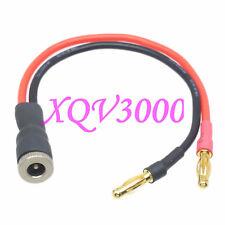 DC Power 5.5x2.1mm metal socket barrel Female to 4mm Bullet plug 16AWG 15CM Wire