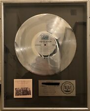 """FOREIGNER """"Double Vision"""" RIAA Certified Platinum Record Floater Award"""