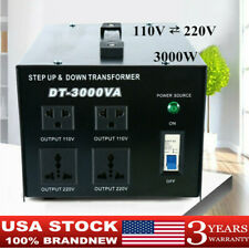 3000 Watt Voltage Converter Step-Up/Down Voltage Transformer 110V to 220V Us New