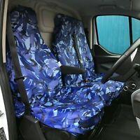 Heavy Duty Waterproof in Blue Camo Van Seat Covers 2+1