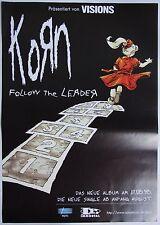Korn - Follow The Leader, Rare German Poster