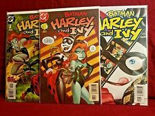 Harley and Ivy 1 2 3 Complete Series Set! Quinn Batman 2004 Dini Bruce Timm Art!