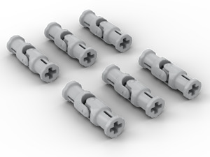 6x New Genuine Light Bluish Grey Lego Technic Universal Joint 3L part 62520