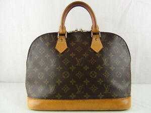 US seller Authentic LOUIS VUITTON MONOGRAM ALMA HAND BAG PURSE Good LV