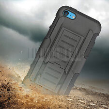 Heavy Duty Rubber Tough Armor Case Rugged Stand Hard Cover For Apple iPhone 5C