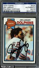 1979 Topps Football #425 Jim Langer Signed AUTO PSA/DNA AUTHENTIC STOCK PHOTO
