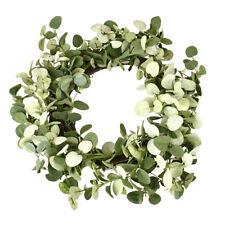 Artificial Eucalyptus Wreath, Green, 20-Inch