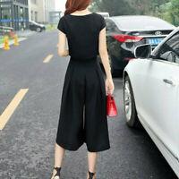 2PCS Combinaison femme t-shirt coréen + combinaison pantalon lar`TRFR