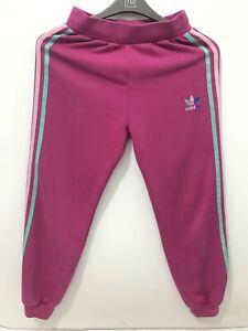 Girls  Kids Adidas 3 Stripe Trouser Track Suit Pink 12 Years
