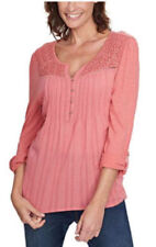 Gloria Vanderbilt Ladies' Zuri Top With Roll Tab Sleeves Rose Balm Sz XL