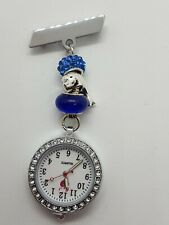 Blue/silver themed dolphin european fob watch vets carers nurses doctors