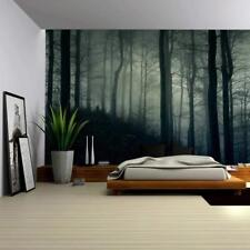 Wall26 - Dark and Misty Forest Wall - Canvas Art Wall Decor - 66x96 inches