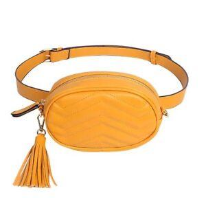 Belt Bag Women Solid Waist Bags Ladies Leather  Fanny Packs Elegant Design Strap