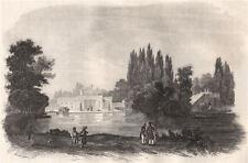 The royal villa of Lazienki. Poland 1836 old antique vintage print picture