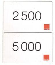 Côte d'Ivoire - Orange GSM Prepaid Cards - 2 Cards - Used/Usagées