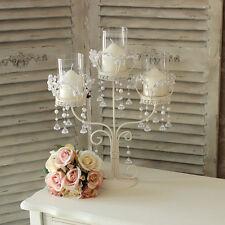 vintage avorio crema matrimonio portacandela lampadario focali