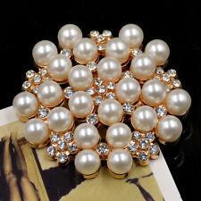 1 Pc Crystal Pearl Flower Shoe Clip Removable Women Wedding Bridal Shoe Buckle