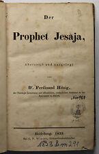 Dr. Ferdinand Hitzig Der Prophet Jesaja 1833 Relgion Tanach hebräisch Hebraismus
