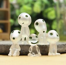 Lot of 5 studio GHIBLI Princess Mononoke Forest Spirit Elf Kodama Glow in dark