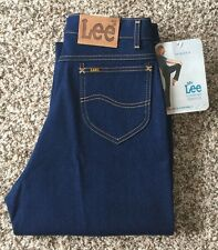Vintage DeadStock 80s' Lee Rider Denim Blue Jean Talon 42 Size 30x33 Make In USA