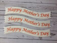 25 Die-Cut HAPPY MOTHER'S DAY Sentiment Banners Card Making Craft Embellishments