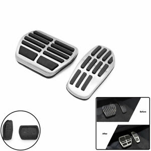 Vehicle Accelerator Brake Pedal Cover Stainless Steel Pad For Nissan Qashqai 2PC