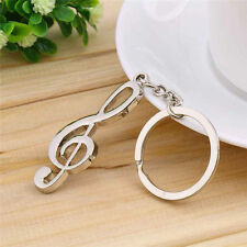 Creative Music Symbol Metal Keychain Ring Keyring Key Fob Funny Fashion Gift