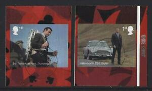 GREAT BRITAIN 2020 JAMES BOND SELF ADHESIVE  BOOKLET PAIR FINE USED