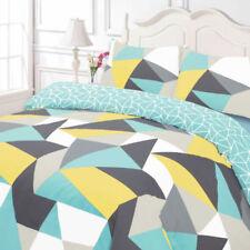 Linge de lit et ensembles jaune à motif Géométrique pour chambre à coucher
