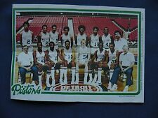 1980-81 Topps Team Pin-Ups Detroit Pistons #5 team photo basketball NBA
