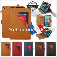 Etui Housse CARD Cuir PU Leather Case Samsung Galaxy Tab S5e ou Tab A 10.1  2019