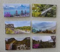 2018 NEW ZEALAND BYCYCLE TRAILS SET OF 6 MINT STAMPS