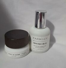 1 oz FARMACY INVINCIBLE ANTI-AGING SERUM & .5 oz RISE 'N SHINE *READ*
