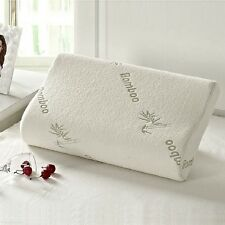 Bed Pillow Memory Foam Bamboo Fiber Sleeping Neck Cervical Spine Care Cushion
