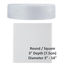 "Cake Dummies - Round / Square - 3"" Depth - Width 3"" - 14""  Rounded Edge UK Stock"