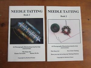 NEEDLE TATTING 1 and 2 Instruction Books Barbara Foster FREE SHIPPPING