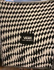 Vans Off The Wall Blanket Black And White