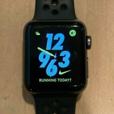 Apple Watch Series 3 Nike 38mm Space Gray Aluminum Case with Anthracite/Black...