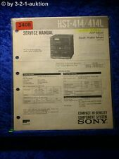 Sony Service Manual HST 414 / 414L Component System (#3408)