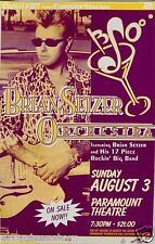 BRIAN SETZER DENVER 1997 CONCERT TOUR POSTER -Stray Cats, Rockin' Big Band Swing
