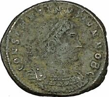 CONSTANTINE II Constantine the Great  son  Roman Coin Glory of the Army  i40271