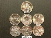 2013 S + 2012 S Mint National Park Quarters Uncirculated Set All 7 Coins Volcano