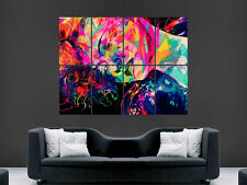 TRIPPY  WOMEN PYCHEDELIC IMAGE LARGE  WALL PICTURE POSTER GIANT HUGE ART
