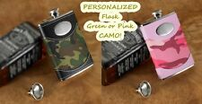 CAMO FLASKS - Pink and Green Camo FLASKS! Personalized! FREE SHIPPING!