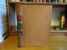 Old GEOLOGICAL SURVEY Leather Book TRIANGULATION SPIRIT LEVELING 2 FOLDING MAPS!