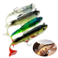 New 5pcs Lead Fishing Lure Bait Soft Baits Lures Tackle With Sharp Hook 8cm 14g