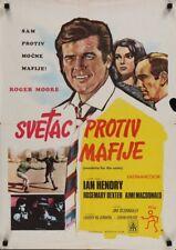SAINT - VENDETTA FOR THE SAINT Yugoslavian movie poster ROGER MOORE 1969