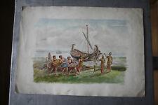 BROUGH HAVEN FERRY INN Original Early 20th Century WatercolouR KITSCH